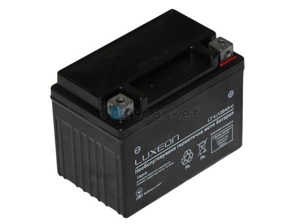 Стартерная батарея LUXEON Мото 12В 4 Ач LT4