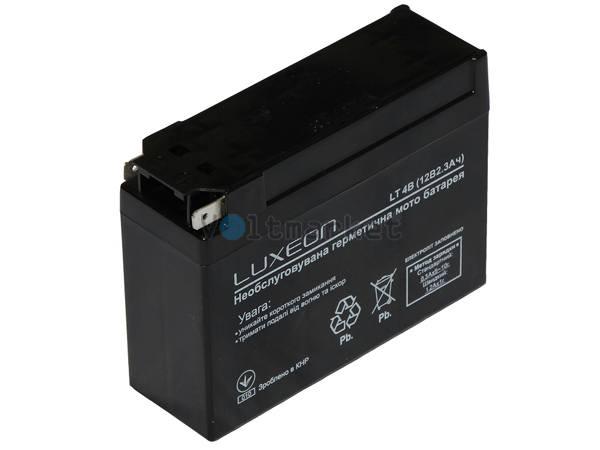 Стартерная батарея LUXEON Мото 12В 2,3 Ач LT4B