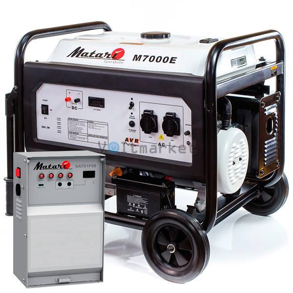 Бензиновая электростанция Matari M7000E-ATS