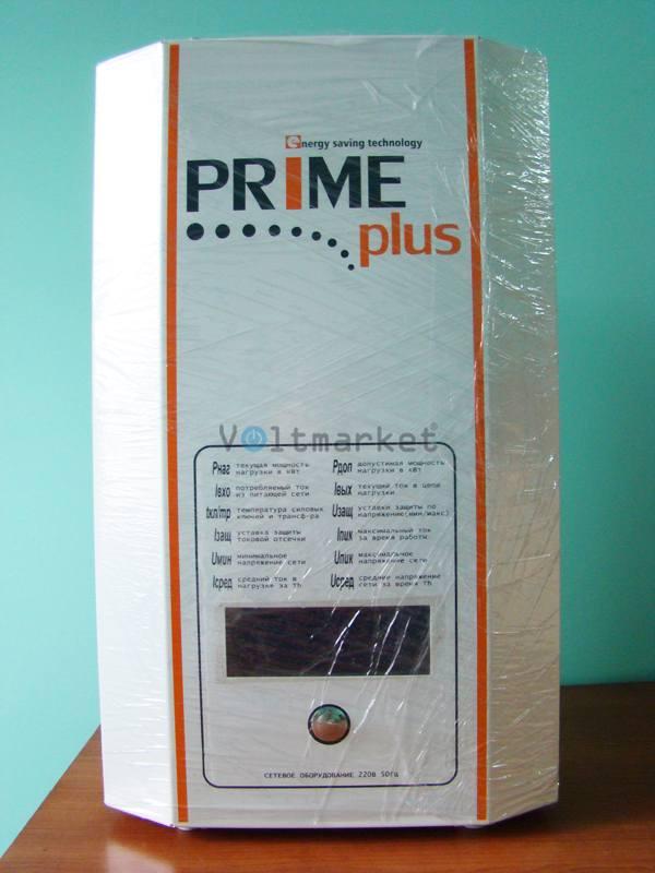 Однофазный стабилизатор напряжения PRIME PLUS СНТО-7000 wide