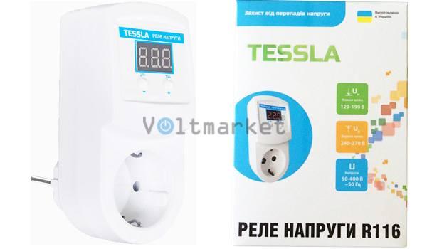 Реле напряжения TESSLA R116 16A