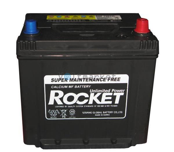 Автомобильные стартерные батареи Rocket 6СТ-65 SMF 75D23L R+