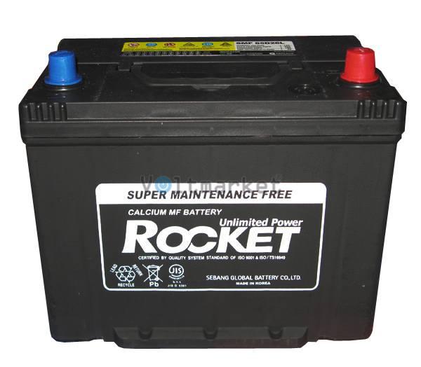 Автомобильные стартерные батареи Rocket 6СТ-80 SMF 85D26L R+