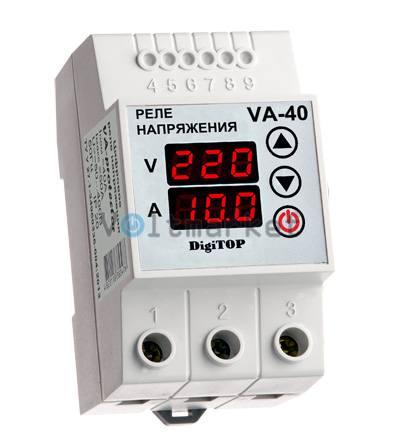 Реле напряжения с индикацией тока нагрузки DIGITOP VА-40