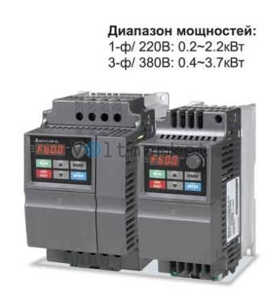Преобразователь частоты Delta Electronics VFD007EL43A
