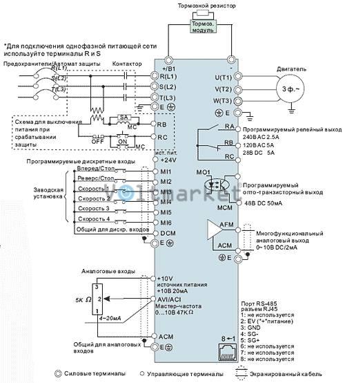 Преобразователь частоты Delta Electronics VFD015EL21A