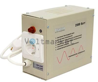 Релейный однофазный стабилизатор напряжения  PHANTOM VN-2500 (модель VN-720)