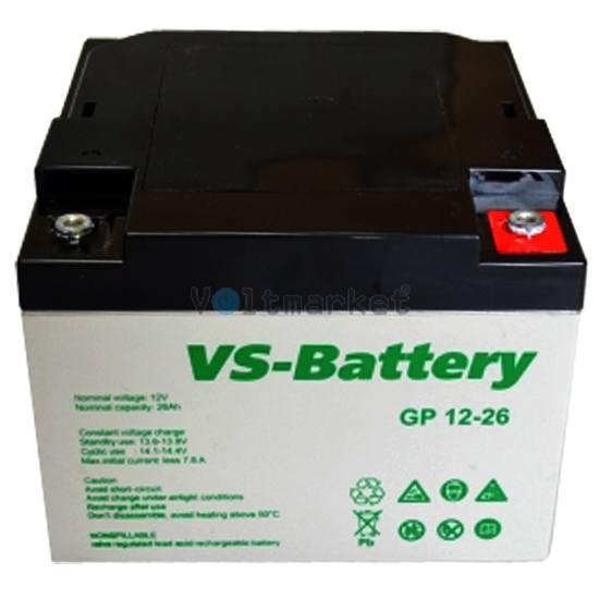 Аккумуляторные свинцово-кислотные батареи VS-Battery VS GP12-26