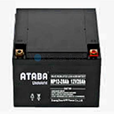 Аккумуляторные батареи ATABA NP 12-26 (12V26Ah)