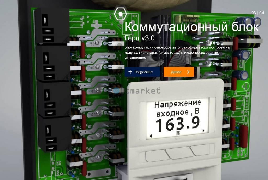 Электронный однофазный стабилизатор напряжения ЭЛЕКС ГЕРЦ У 36-1/50 V3.0