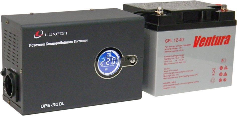 Бесперебойник Luxeon UPS-500L