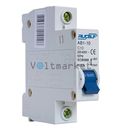 Автоматический выключатель RUCELF AB1-1P-10A