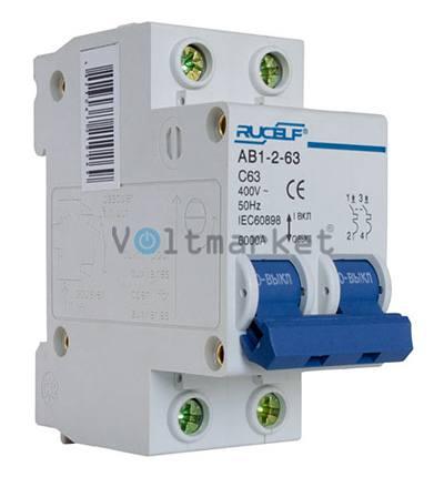 Автоматический выключатель RUCELF AB1-2P-63A