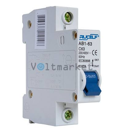 Автоматический выключатель RUCELF AB1-1P-63A