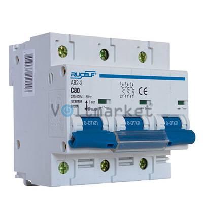 Автоматический выключатель RUCELF AB2-3P-80A