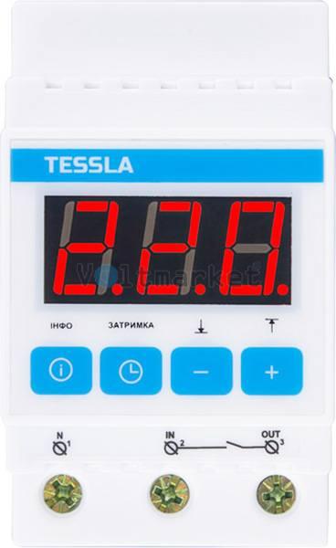 Реле напряжения TESSLA D25t 25A
