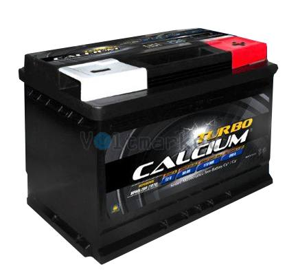 Автомобильная стартерная батарея TURBO CALCIUM 6СТ-60 620А 242x175x175 R+