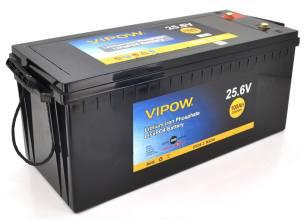 VIPOW LiFePO4 25.6V 100Ah 2560WH BMS 80A