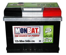 MONBAT 6СТ-60 560 70 04 SMF R+