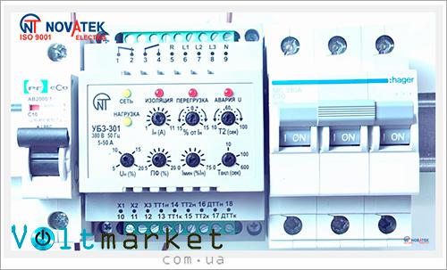Универсальный блок защиты электродвигателей НОВАТЕК-ЭЛЕКТРО