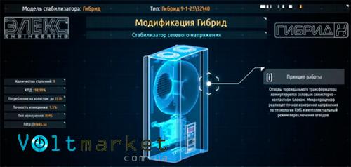 Релейный стабилизатор напряжения ЭЛЕКС ГИБРИД